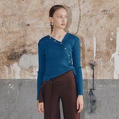 Iena Knit Cardigan_Deep Blue