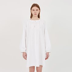 Alexa Cotton Shirring Dress