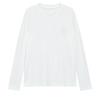 엠브로이더리 로고 크루넥 티셔츠