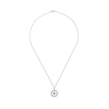 [혜리 착용] Midnight Sun Compass Necklace_SILVER