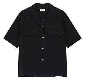 투 포켓 오픈카라 폴리 셔츠