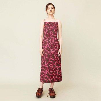 Wild Rose Slip Dress Brown Pink