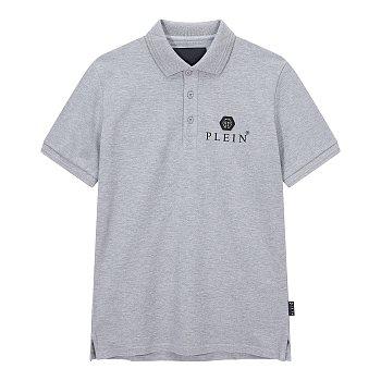 헥사곤 로고 장식 폴로 셔츠