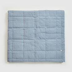 오가닉 코튼 60수 양면 패드_Q_인디 블루
