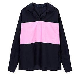 [Sofie D'Hoore] 컬러 블록 카라 셔츠