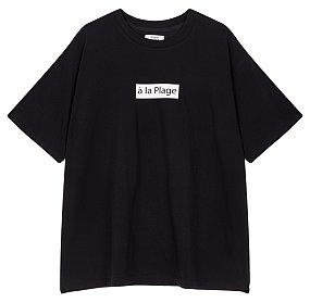 박스 로고 티셔츠
