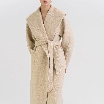 FW21 앙고라 Angora Wide Coat Sand-beige