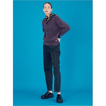 Straight Cone Denim Pants_Black