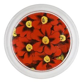 [John Derian] Red Primula 코스터 (4 inch)
