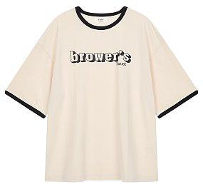 프린트 포인트 티셔츠