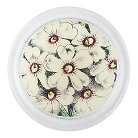 [John Derian] White Primula 코스터 (4 inch)