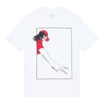브이 피플 그래픽 반팔 티셔츠