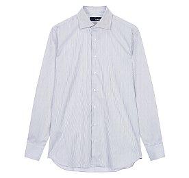 씬 스트라이프 버튼업 셔츠