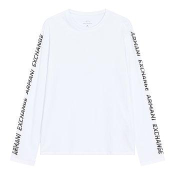 슬리브 로고 그래픽 코튼 티셔츠
