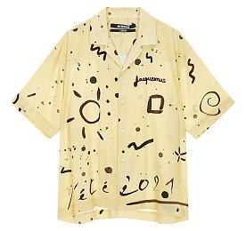 [Jacquemus] 프린트 오픈카라 셔츠 (남성)