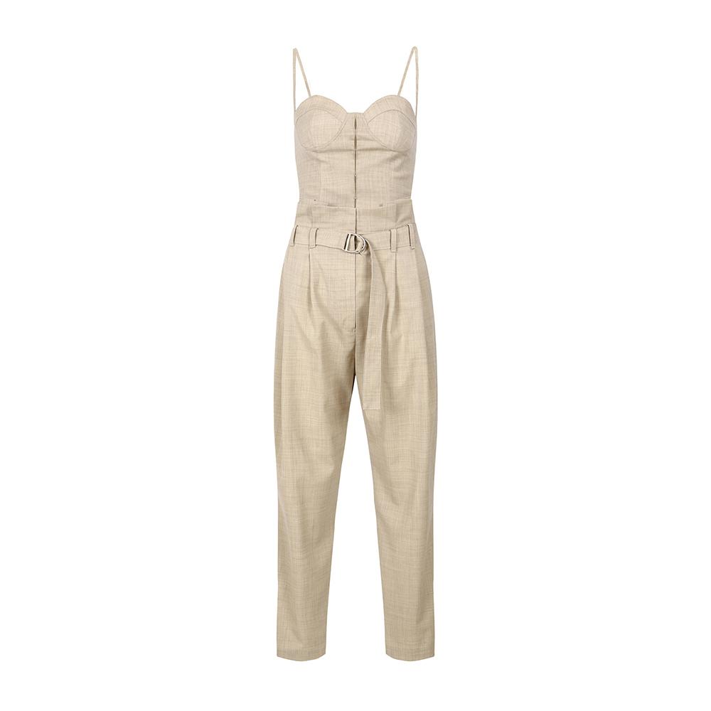 [시즌오프 20% OFF] Sleeveless Bustier Belted Jumpsuit