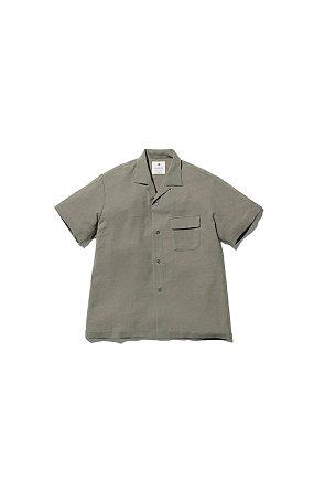 Quick Dry Crepe Weave Soft Shirt 스노우 피크 웨이브 소프트 셔츠 올리브