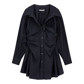 [alexanderwang.t] 개더 웨이스트 셔츠 원피스