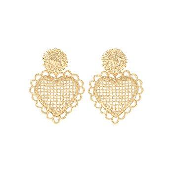 [정소민,임수향 착용] 1930 Drop Heart Earrings_GOLD
