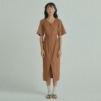 X U layered Dress / Brown
