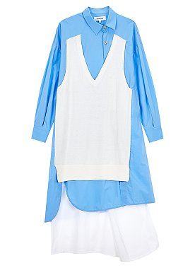 [Enfold] 니트 레이어드 셔츠 원피스
