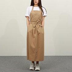 WRD057 파인 코튼 에이프런 드레스(우드)