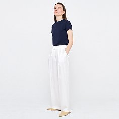 Twill Wide Pants_White
