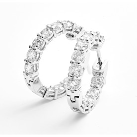 [ADDIR] 다이아몬드 후프 이어링