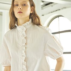 Heidi Frill Collar Shirt_Light Pink
