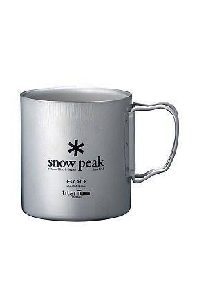 Ti-Double 600 Mug 스노우 피크 티탄 더블 머그 600(R)