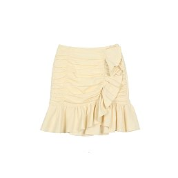 [아이유 착용] JACQUARD COTTON SKIRT - IVORY