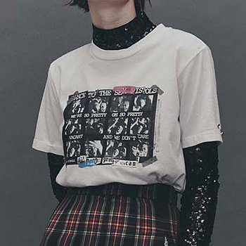 PRETTY VACANT PRINTED JERSEY T-SHIRT