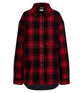 [Vetements] 체크 패딩 셔츠
