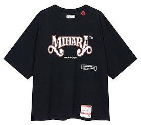 [Mihara Yasuhiro] 레터링 프린트 원 포켓 티셔츠 (남성)