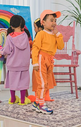 COLOUR PLAY PANTS (ORANGE)