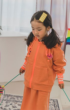 COLOUR PLAY ZIP-UP (ORANGE)