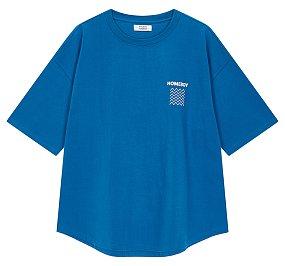 웨이브 패턴 프린트 티셔츠