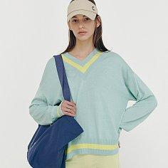 [5/11(화) 예약배송][SS21 CLOVE] V-neck Overfit Knit Pullover Mint