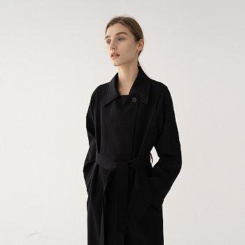 SS21 Double Coat Black