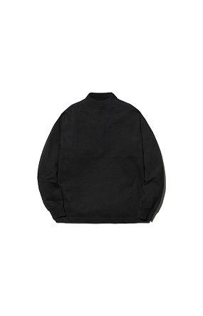 라이프 밸류 어패럴 Heavy Cotton Mockneck L/S Tshirt 헤비 코튼 모크넥 블랙
