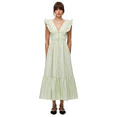 셀프포트레이트 피스타치오 코튼 미디 드레스 (SS21-036CM)