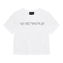 [주니어 여아] 스팽글 로고 반팔 티셔츠 [10세 이상]