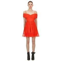 셀프 포트레이트 오렌지 오프 숄더 미니 드레스 (SP-SS20-105S)