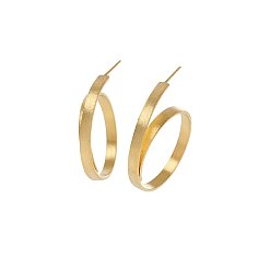 Silhouette Coil Earrings_GOLD