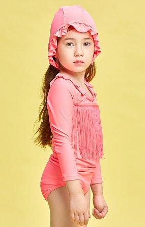 페이스커버 러플 스윔햇 - 핑크(네온)